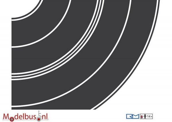 Rietze 70702 Teerbelag Kurvensatz je 1x Radius 84+165mm