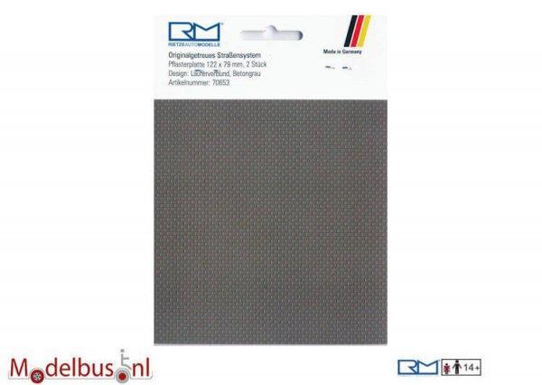 Rietze 70653 Pflasterplatte Läuferverbund 122x79 mm betongrau (2 st.)