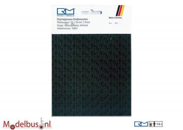 Rietze 70652 Verbundpflasterplatte 122x79mm antrazit (2 st.)