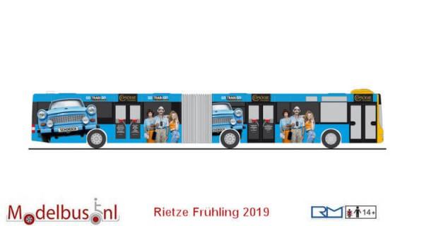Rietze 72782 MAN Lion's City G Taeter Tours, Dresden / Go Trabi Go