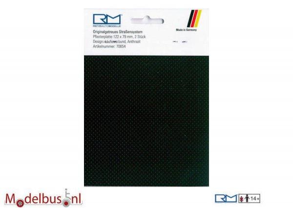 Rietze 70654 Pflasterplatte Läuferverbund 122x79 mm antrazit (2 st.)