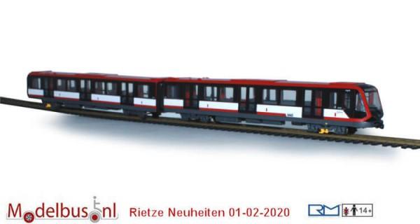"""Siemens G1 U-Bahn """"VAG Nürnberg"""" Betriebsnr.: 409-412, U1 Fürth Hardthöhe, Kurs 117"""