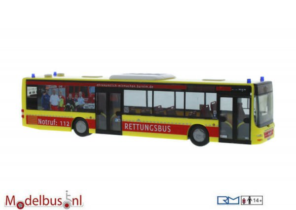 Rietze 72724 MAN Lion's City Barnimer Busgesellschaft -Feuerwehr Rettungsbus-