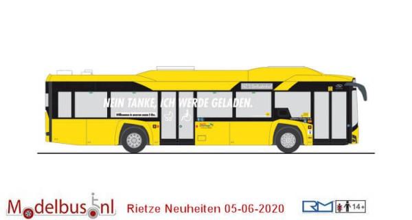Rietze 73034 Spoor H0 Solaris Urbino 12´14 electric BVG (zonder pantograaf)
