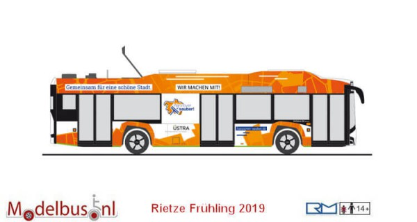 "Rietze 73033 Solaris Urbino Electric 12 `14 ""Üstra, Hannover"""