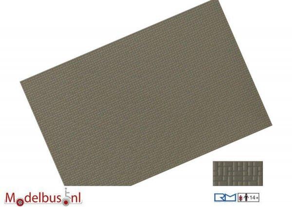 Rietze 70651 Verbundpflasterplatte 122x79mm betongrau (2 st.)
