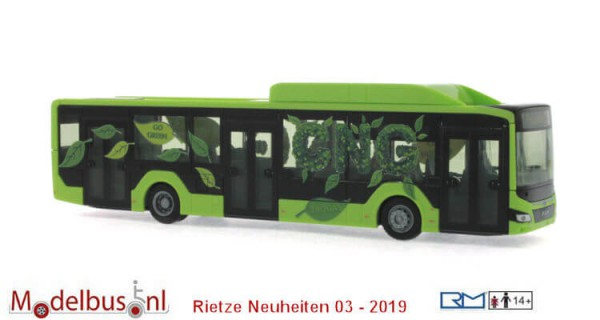 Rietze 75309 MAN Lion's City 12 G '18 Vorführdesign