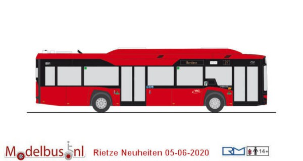 Rietze 76802 Solaris Urbino 12´19 electric VAG Freiburg