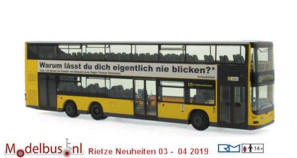 Rietze 67785 MAN Lion´s City DL07 BVG - Schaubühne