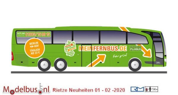 Rietze 14128 Mercedes-Benz Travego 1:43 Meinfernbus - Eichberger Reisen
