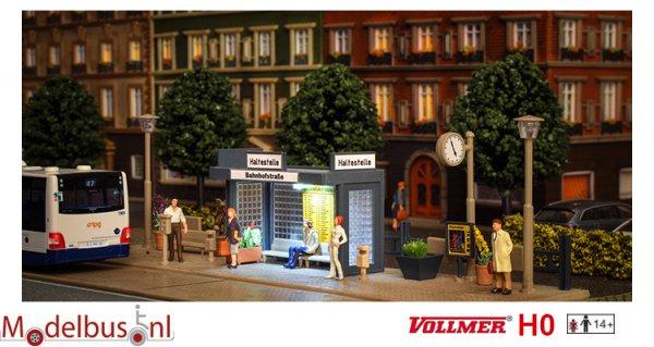 Vollmer 45154 H0 Bushalte met LED verlichting