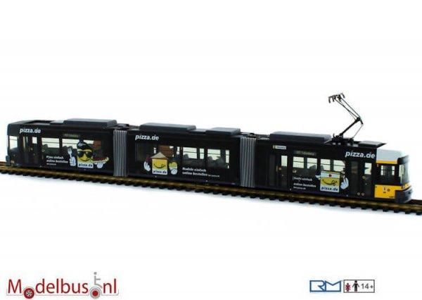 Rietze STRA01007 Adtranz GT6N BVG-Pizza.de Wagennr. 1097