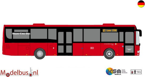 KSM-Modelle 110487 Irisbus Crossway LE DB Weser Ems Bus