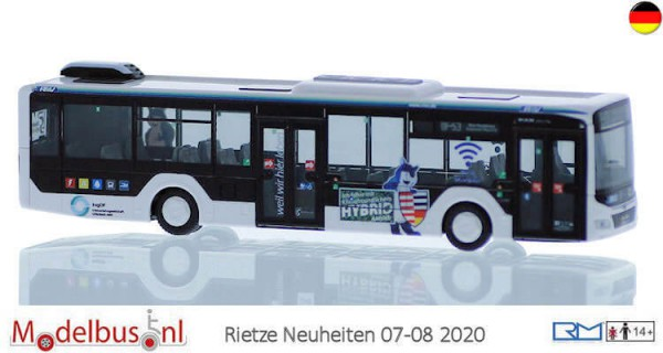 Rietze 75311 MAN Lion's City 12'18 Hybrid Stadtwerke Neu-Isenburg