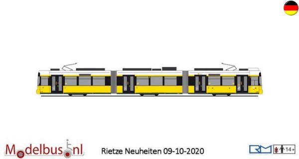 """Rietze STRA01074 Adtranz GT6 """"BVG"""" wagennummer 2217"""