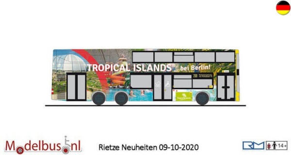 """Rietze 16992 MAN Lion's City DL07 """"Tropical Islands"""""""