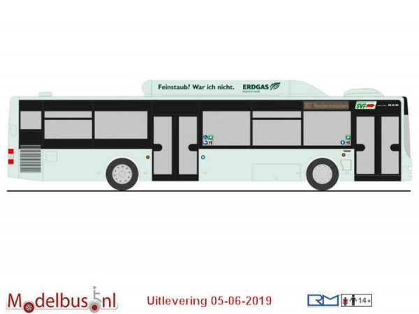 Rietze 73914 MAN Lion´s City ´15 CNG SVF Frankfurt/Oder