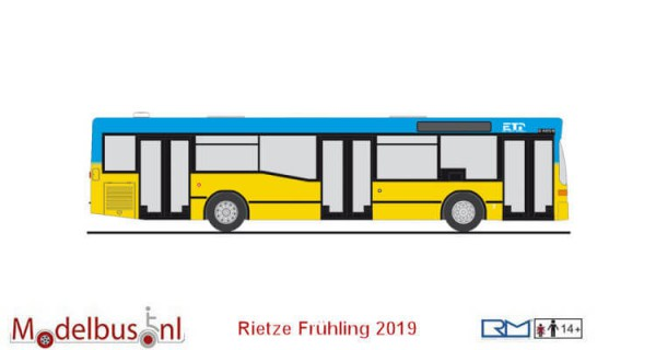 "Rietze 75235 Mercedes-Benz O 405 N2 ""Euro Traffic Partner Chemnitz"""