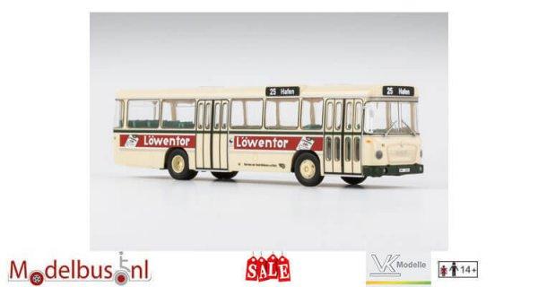 VK-Modelle 14141 750 HO-M11 A Metrobus Stadt Mülheim Lijn 25 Bestemming: Hafen Busnummer 63 Kenteken: MH2221 Reclame: Löwentor