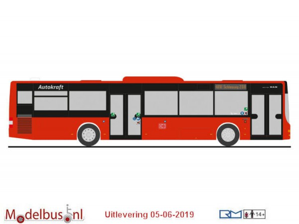 Rietze 73912 MAN Lion´s City ´15 DB - Autokraft Kiel