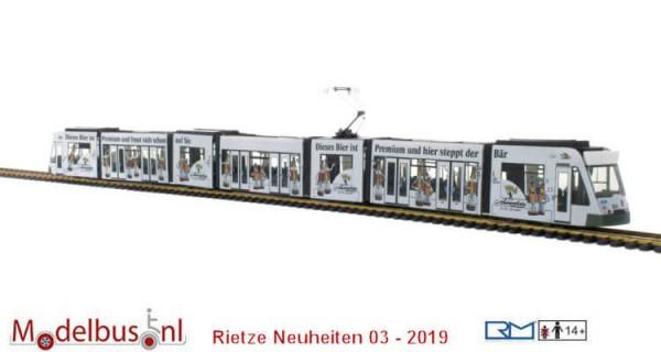Rietze STRA01043 Siemens Combino Augsburg - Schwarzbräu