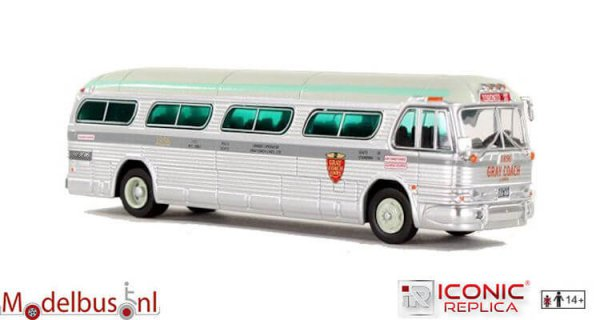 Iconic Replicas 087-0147 GM PD4104 Motorcoach Gray Coach Lines - Toronto