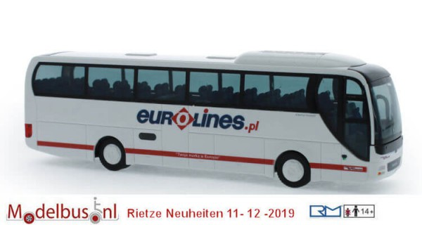 Rietze 65556 MAN Lion's Coach '15 Eurolines Polen