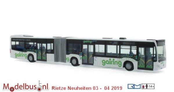 Rietze 73639 Mercedes-Benz Citaro G´15 Hybrid Gairing Omnibusverkehr Neu - Ulm