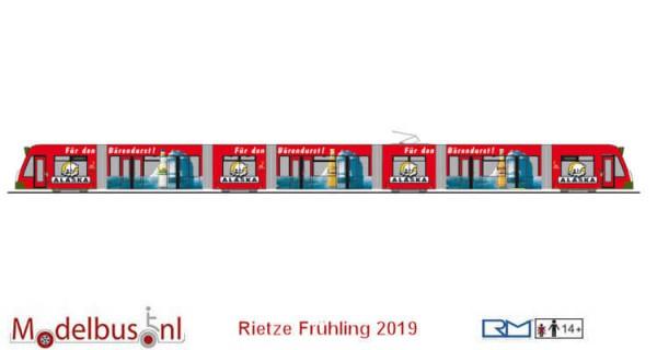 Rietze STRA01055 Siemens Combino Stadtwerke Augsburg-Alaska
