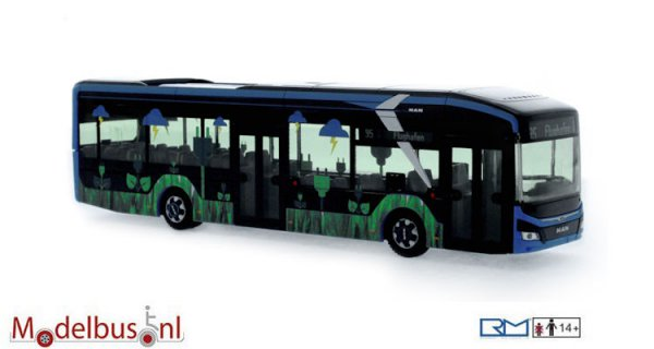 Rietze 76302 MAN Lion´s City 12 E Vorführdesign