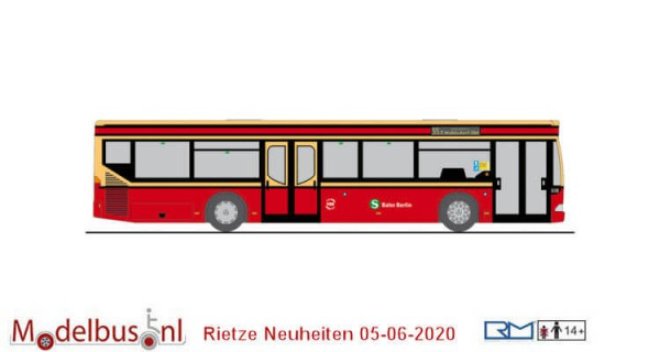 Rietze 69910 Mercedes Benz Citaro BEX - S-Bahn Berlin