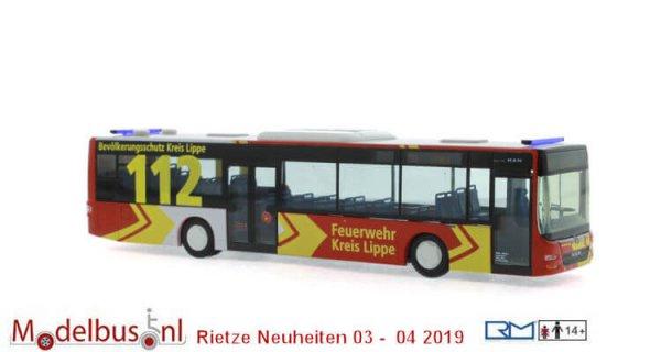 Rietze 73906 MAN Lion´s City ´15 Feuerwehr Kreis Lippe
