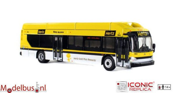 Iconic Replicas 087-0139 New Flyer xcelsior CNG Hertz