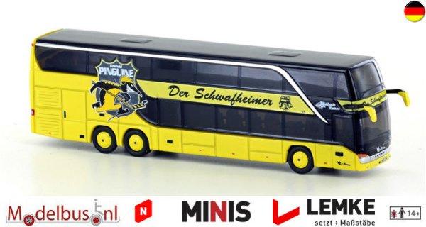 "MiNis/Lemke LC4477 Setra S431 DT Teambus ""KEV-Krefeld-pinguïns"""