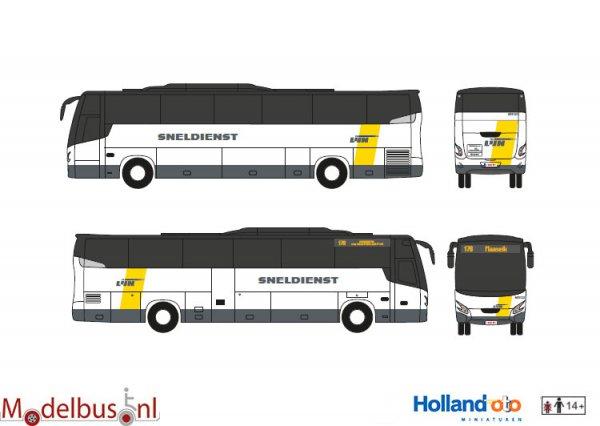 De Lijn Sneldienst Maaseik HollandOto VDL Futura Modelbus.nl