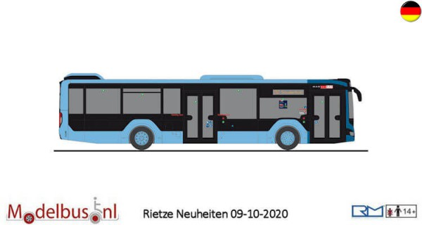 "Rietze 75320 MAN Lion's City 12-18 ""Delbus Delmenhorst"""