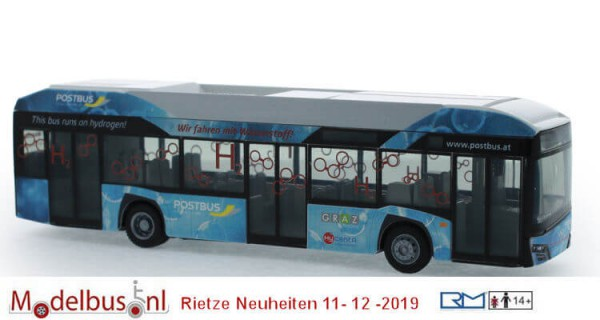 Rietze 77001 Solaris Urbino 12´19 Hydrogen Postbus Holding Graz