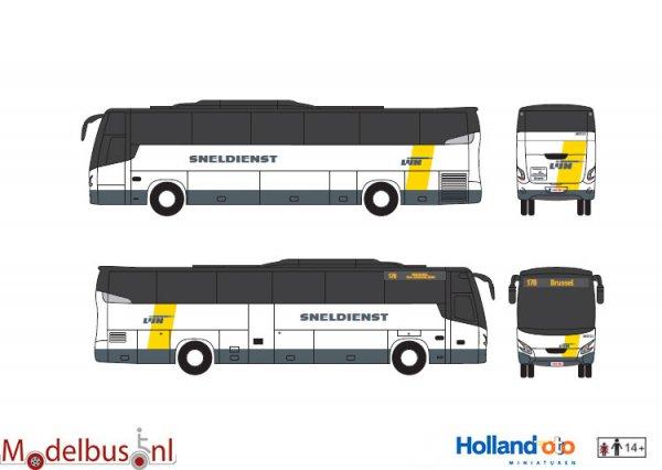 HollandOto 8-1161a De Lijn Sneldienst Brussel VDL Futura
