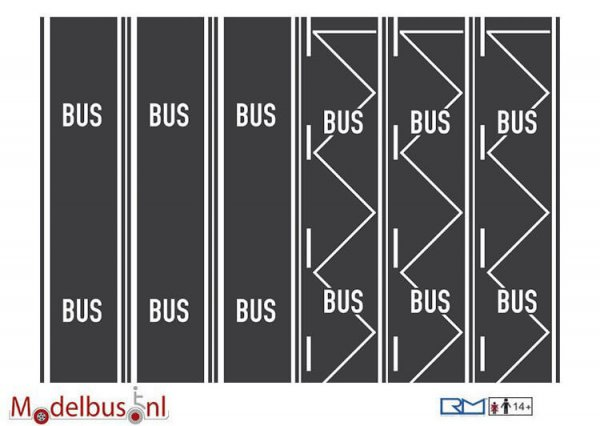 Rietze 70706 Teerbelag Busspur, Bushaltestelle je (3 st.)