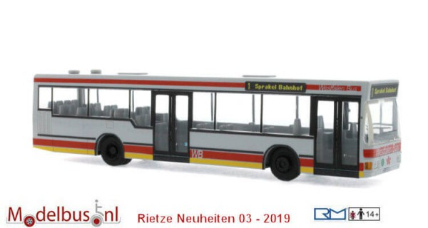 Rietze 75005 MAN NL 202-2 Westfalen Bus